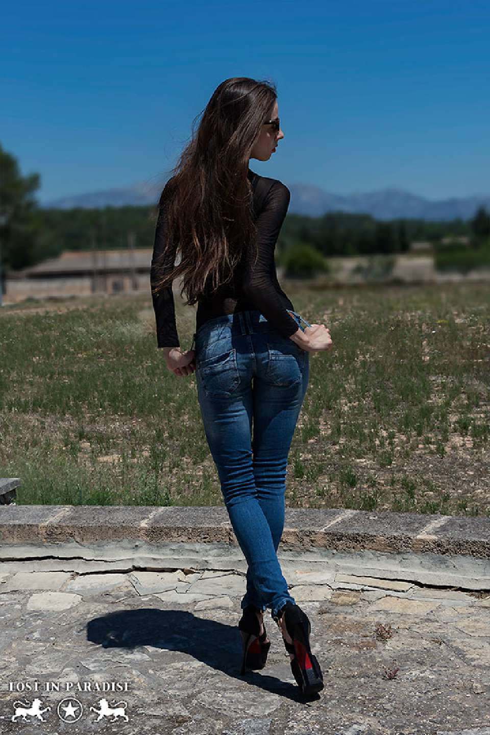 Model Simi Editorial Shooting for Lost in Paradise Jeans at Mallorca with Sedarts