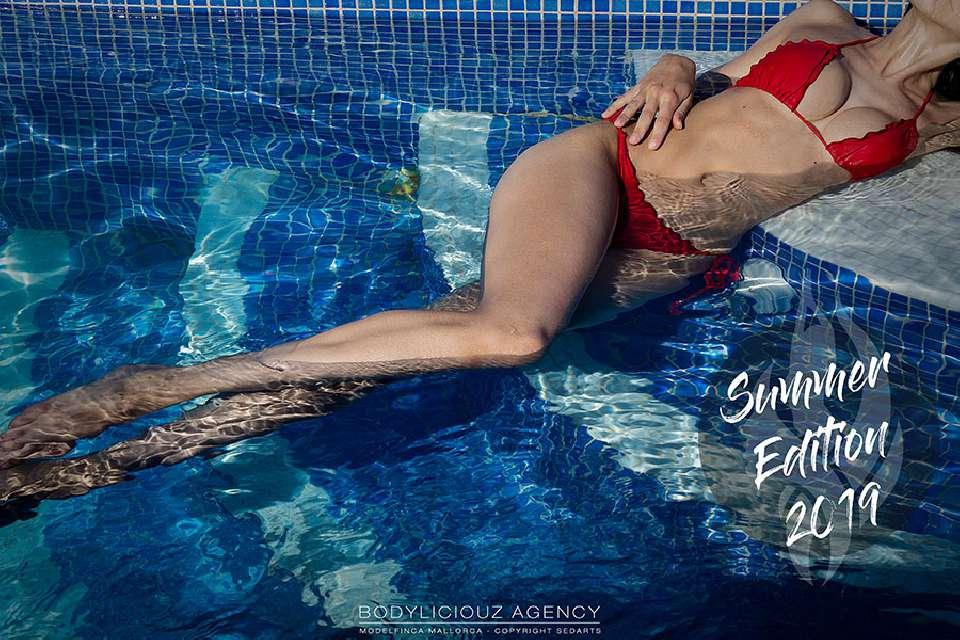 Model Simi Bodyliciouz Lingerie Kalender Produktion 2018 Modelfinca Mallorca